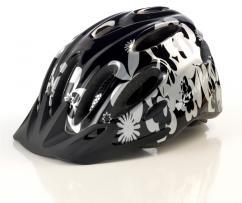 X-City hjelm Sort/Sølv One-Size