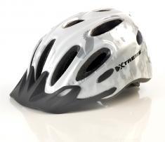 X-City hjelm Hvid/Sølv One-Size