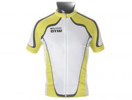 X-OTW kortærmet cykeltrøje, gul/hvid